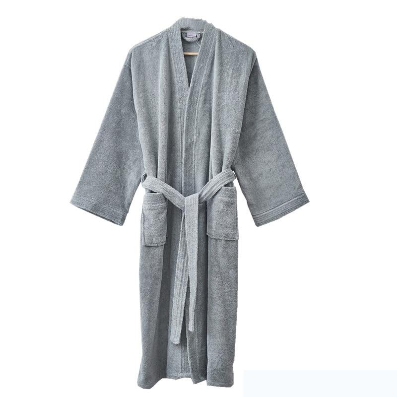 Adult Unisex Bathrobe Terry Towelling Shawl or kimono Dressing Gown 100/% Cotton