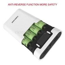 デュアル USB 液晶アンチリバースポータブル電源銀行ボックス 4 × 18650 DIY ディスプレイ · バッテリ · チャージャ 5V 2A powerbank の Led 懐中電灯