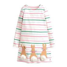 Платья принцесс для девочек одежда малышей осенне зимняя в полоску