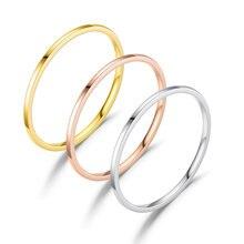 Кольцо из титановой нержавеющей стали для мужчин и женщин гладкое