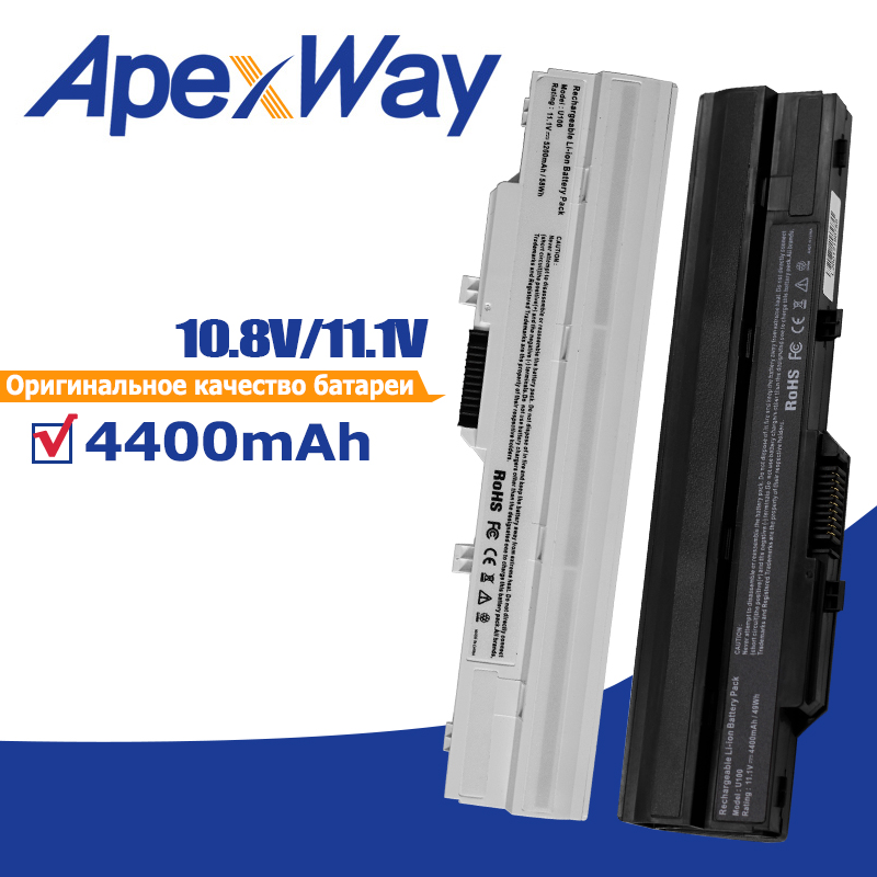 Apexway Laptop Battery For MSI BTY-S11 BTY-S12 Wind U100 L1300 L1350 L1350D U100X U100W U135DX U210 U270 U90X Wind12 U200 U210(China)