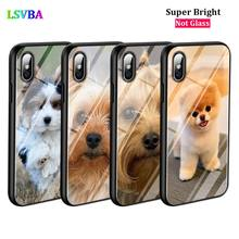 Black Cover Terrier Yorkie Dog for iPhone X XR XS Max for iPhone 8 7 6 6S Plus 5S 5 SE Super Bright Glossy Phone Case black cover japanese samurai for iphone x xr xs max for iphone 8 7 6 6s plus 5s 5 se super bright glossy phone case