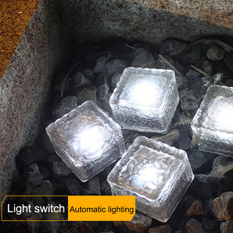 sloar tijolo luzes de vidro fosco tijolo