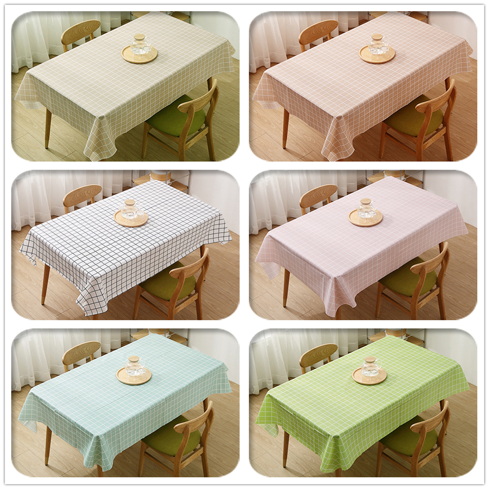 PVC Waterproof Tablecloth Table Cloth Rectangular Plastic Dining Table Desk Cover Home Decoracion Room Decor Aesthetic Manteles