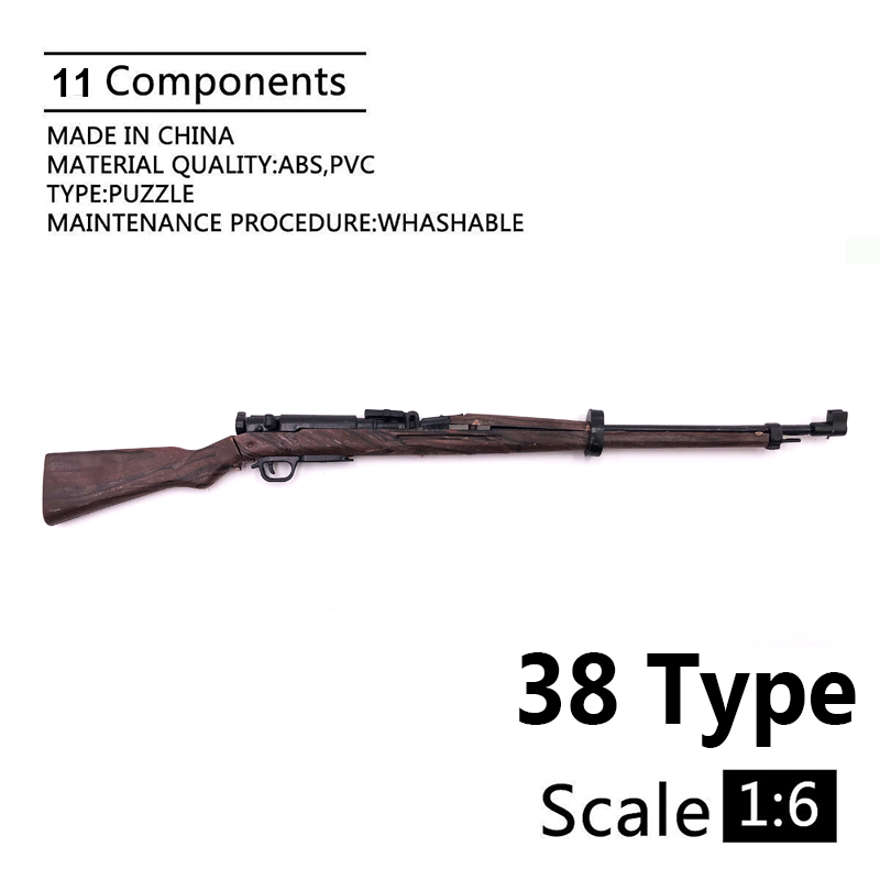 1:6 38 Type Rifle Gun Model Coated Plastic Military Model Accessories For 12