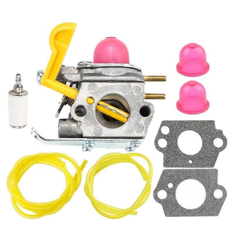 530071752 530071822 545081808 Carburetor With Primer Bulb Bulb Fuel Filter Line Hose Tube For Poulan Craftman Eater String Trimm