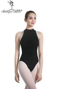 Image 2 - Nero Danza per Adulti Body per Le Donne Del Cotone di Lycra Sexy Body Balletto di Danza Costumi per Le Ragazze Tuta Balletto ClothesCS0713
