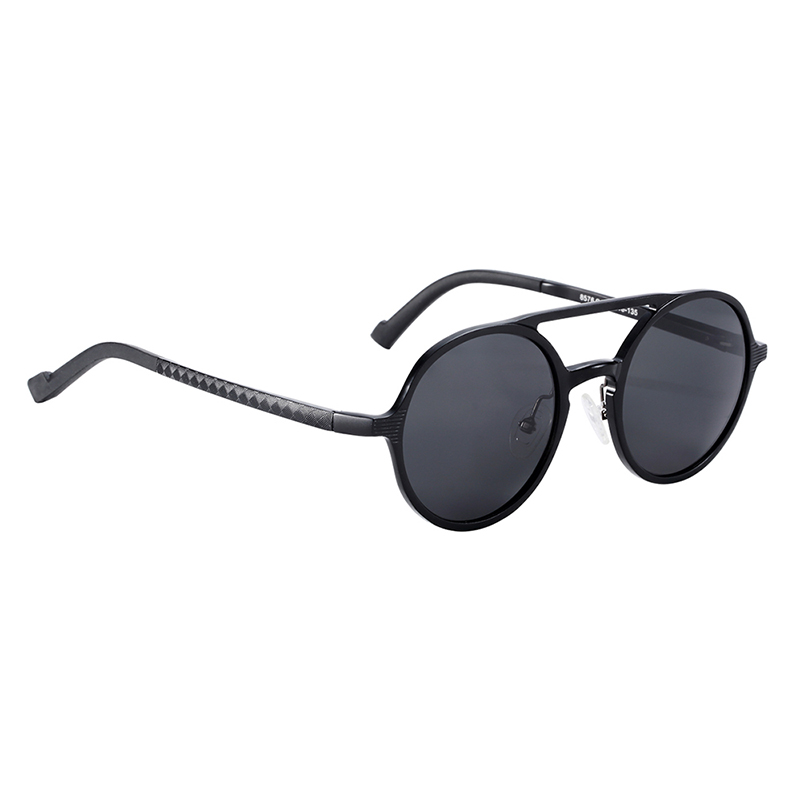 H1c907760b2e547b2b94d5d4176fe7891E BARCUR Hot Black Goggle Male Round Sunglasses Luxury Brand Men Glasses Retro Vintage Women Sun glasses UV400 Retro Style