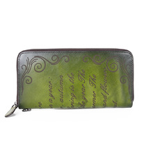 Retro Genuine Leather Hand Luxury Wallet 2020 New Handmade Embossing Phone Purse Card Holder Womens Wallets