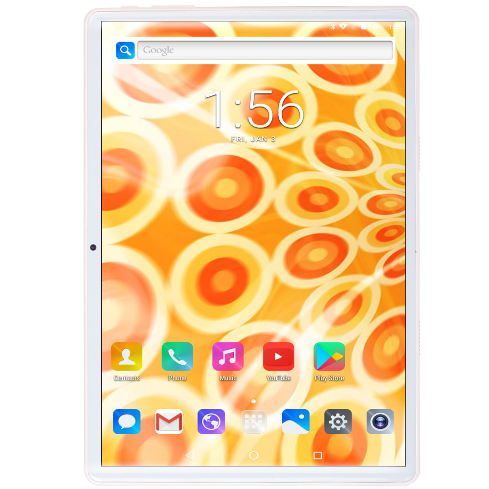 BDF 10 Inch Octa Core Tablet Pc Android 8.0 6GB +64GB WiFi SIM Card Phone Call Tablet Pc  Dual Camera Dual SIM Card Google Work