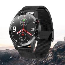 L13 inteligentny zegarek ekg ppg zegarek do Fitness ciśnienie krwi inteligentny zegarek sportowy mężczyźni kobiety ip68 Smartwatch 2020 dla ios inteligentny zegarek Android tanie tanio OLOEY Funkcja obliczania kalorii CN (pochodzenie) Smart Watch ABC15 Passometer Fitness Tracker Answer Call