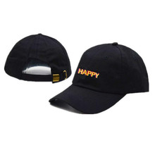 HAPPY baseball cap for men embroidery letter male dad hat