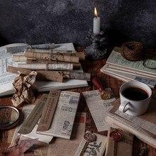 Papier plante galaxie vieux Journal 60 pièces, papier de fond artisanal décoratif Vintage pour Scrapbooking, planificateur de Journal, DIY bricolage