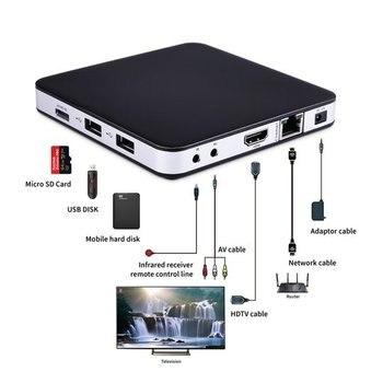 2020 Sweden hot Tvip 605 IPTV Linux System Set Top Box 4K OTT Amlogic S905X Tvip S-Box V.605 Media Player Tvip605 Smart Tv Box