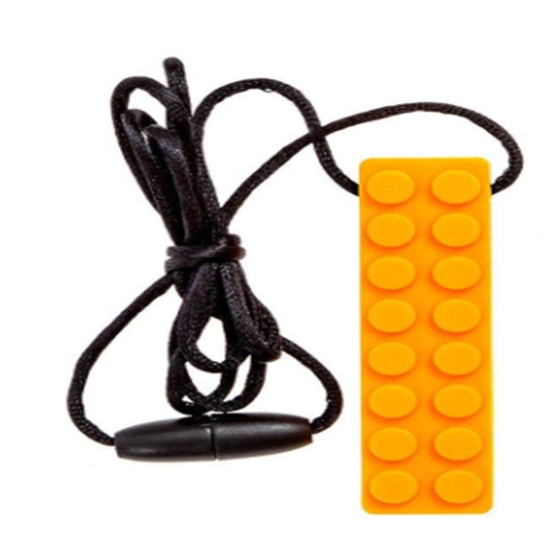 1 stücke Baby Beißring Silikon Zahnen Spielzeug Bleistift Beißring Stift Kappe Lebensmittelqualität Silikon-kautable Halskette Anhänger Kinder Zähne Pflege
