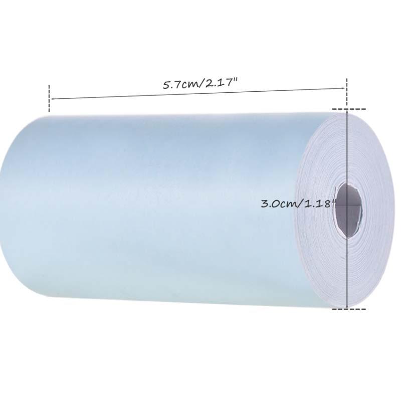 H1c90f4c2767c4b5d8427782441a69b8eE - Peripage A6: 3 rouleaux de papier thermique colorés 57*30mm