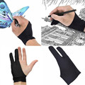 Черная перчатка с 2 пальцами для защиты от загрязнений, как для рисования правой, так и для левой руки для любого графического планшета #50g