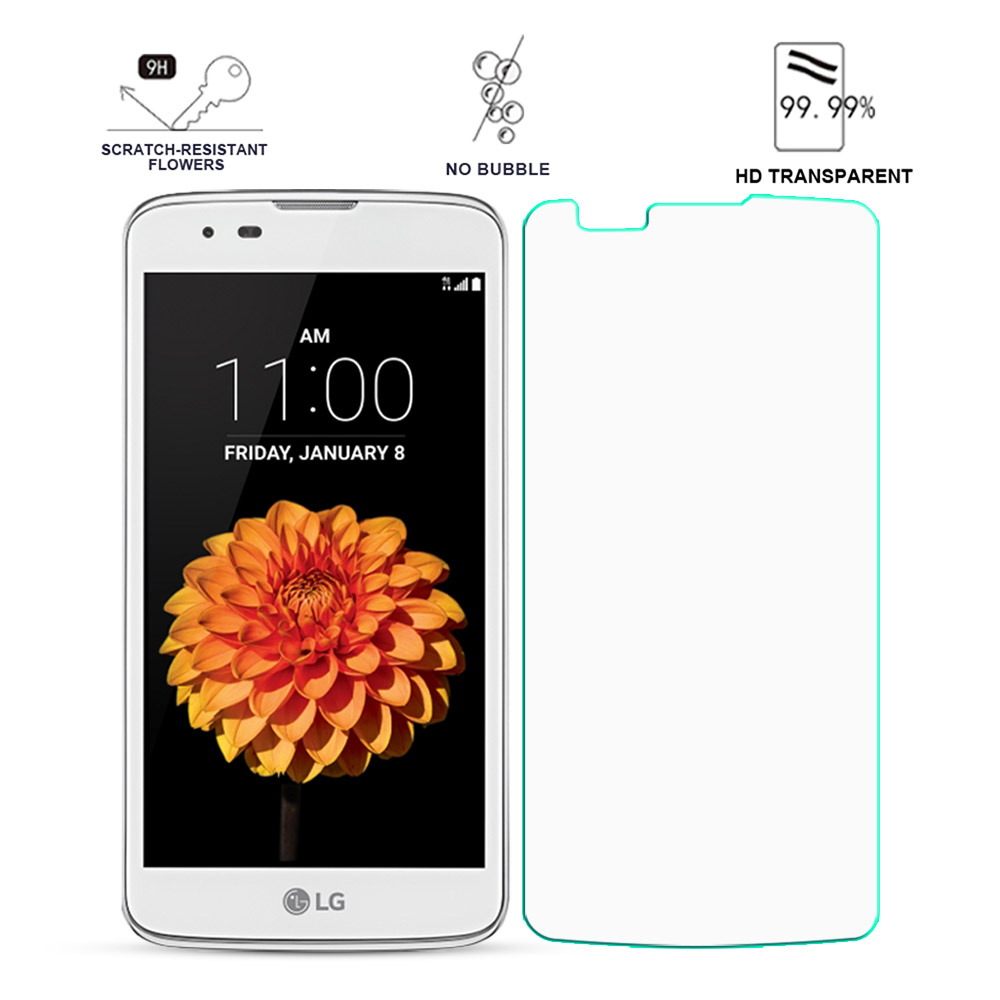Screen Protector Film For <font><b>LG</b></font> <font><b>K7</b></font> / Tribute 5 LS675 / X210 <font><b>X210DS</b></font> Front HD Film For <font><b>LG</b></font> <font><b>K7</b></font> 2.5D Curved Edge Screen Tempered <font><b>Glass</b></font> image