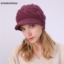 [DINGDNSHOW] 2019 Fashion Beanies Hat Skullies Cotton Bonnet Warm Knitted Winter Cap Women Wool