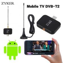 лучшая цена HD Digital TV Receiver USB DVB-T2 TV Stick for Android Phone Pad DTV Satellite Receiver Micro USB Watch TV DVB-T2 Signal HD809