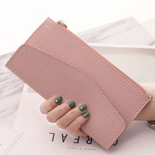 New Long Wallet Coin Purse Women Fashion Artificial Leather Wallet Female Casual Purse Zipper Clutch Purse Lady Long Handbag Bag цена в Москве и Питере