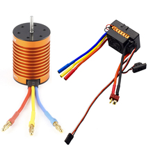 OCDAY 10T 3930KV 4 poles Sensorless Brushless Motor with 60A Electronic Speed Controller Combo Set for 1/10 RC Car and Truck