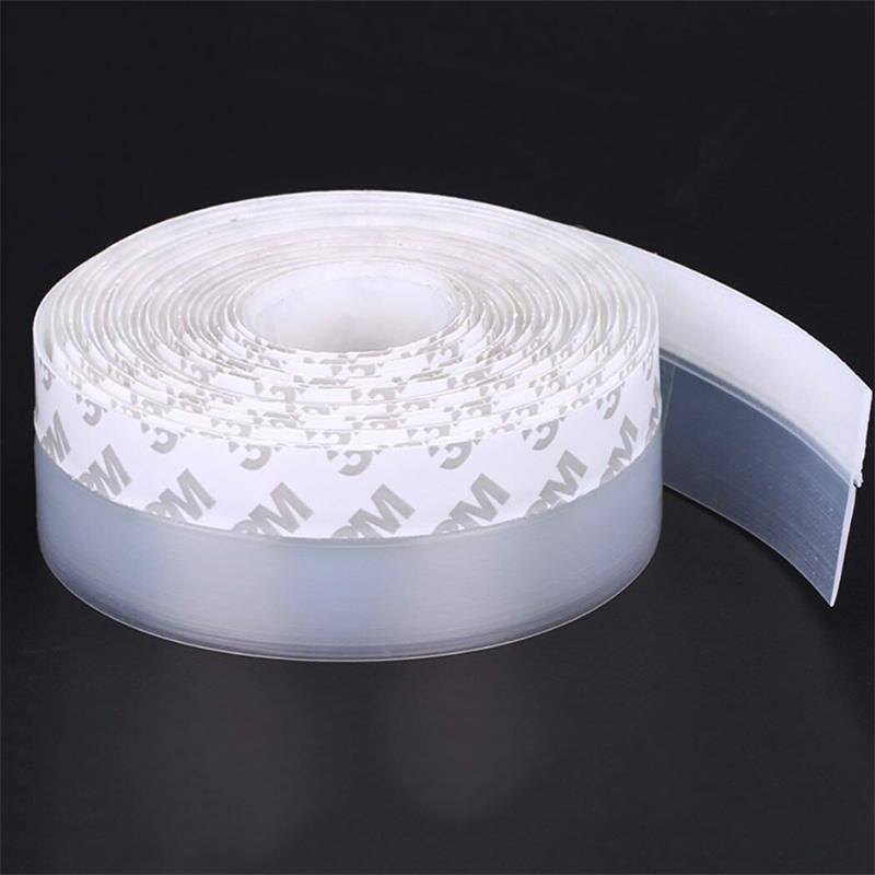 25/35/45mm Self Adhesive Door Seal Strip Silicone Bottom Weather Stripping Soundproof Waterproof Pest Control Door Bottom Seal