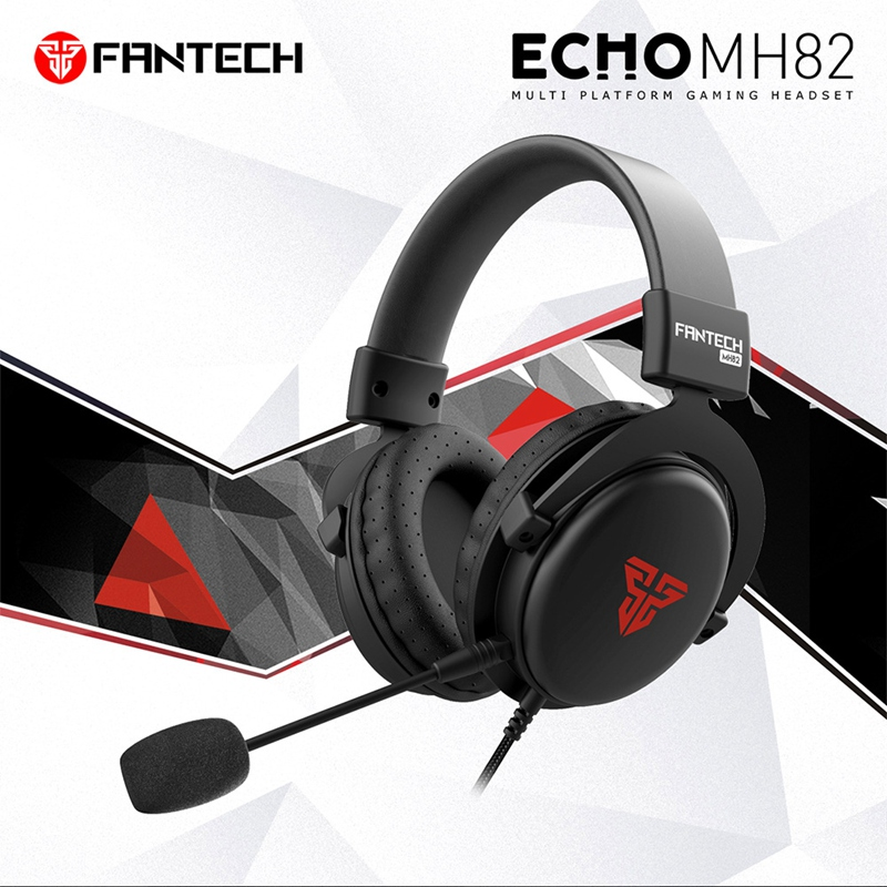 FANTECH MH82 <font><b>3.5MM</b></font> Plug Gaming <font><b>Headphones</b></font> Wired PC Stereo <font><b>Earphones</b></font> <font><b>Headphones</b></font> with Microphone for Profession Gamer FPS Game image