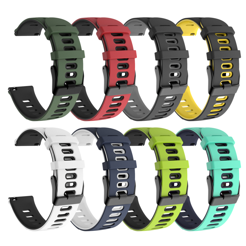 For Garmin Forerunner 245/245M Two-color Silicone Replacement Strap Bracelet Smart Watch High Accessories For Garmin Forerunner