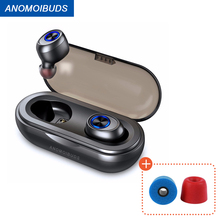 Anomoibuds Bluetooth Oordopjes Tws Draadloze Oortelefoon V5.0 Bluetooth Hoofdtelefoon Sport Draadloze Hoofdtelefoon Sport Hoofdtelefoon