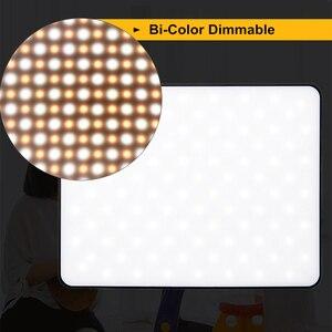 "Image 4 - VILROX 3/2pcs VL 200T דו צבע Dimmable אלחוטי מרחוק LED וידאו אור פנל תאורת ערכת + 75 ""אור Stand עבור סטודיו ירי"