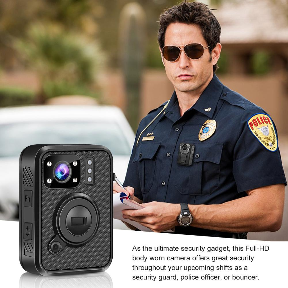 HD 1440P Body Worn Camera 64GB WiFi GPS Camcorder Security Recorder Mini Police Cam IR Night Vision Police Camera