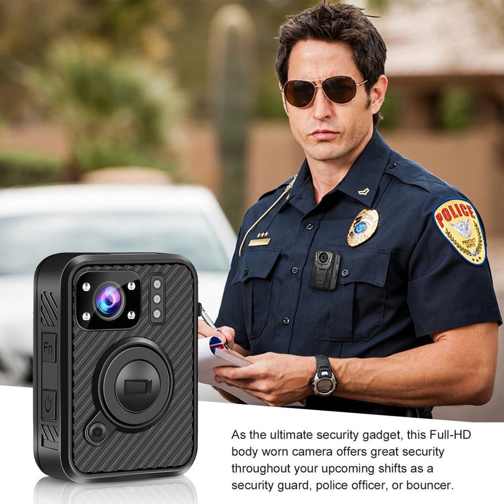 HD 1440P Body Worn Camera 64GB WiFi GPS Camcorder Security Recorder Mini Police Cam IR Night Vision Police Camera