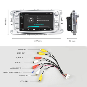 """Image 3 - Hikity 2 din Car Radio 7"""" Android 8.1 Car Multimedia Player GPS WIFI  Autoradio IOS Android Mirrorlink for Ford Focus Car Stereo"""