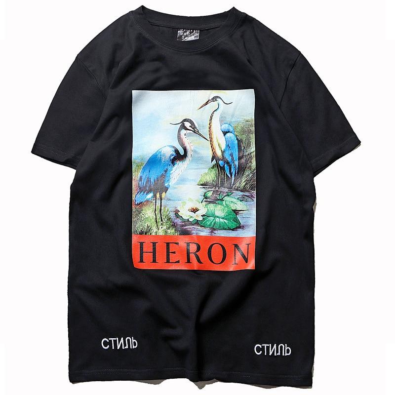 Heron Preston Crane Pullover Short Sleeves Summer Tees 1