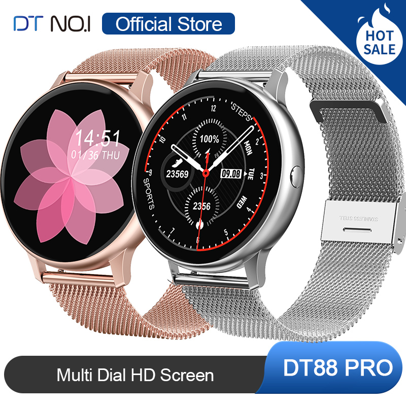 DT NO.1 DT88 PRO Multi Dial HD Screen Wristband Oxygen ECG Heart Rate Monitor Music Control Bluetooth SmartWatch For Android IOS