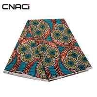 CNACI livraison gratuite Ankara Africain cire impression Tissu Tissu Africain nigéria Batik Tissu 6 Yards/sac Africain imprimé Ankara Tissu