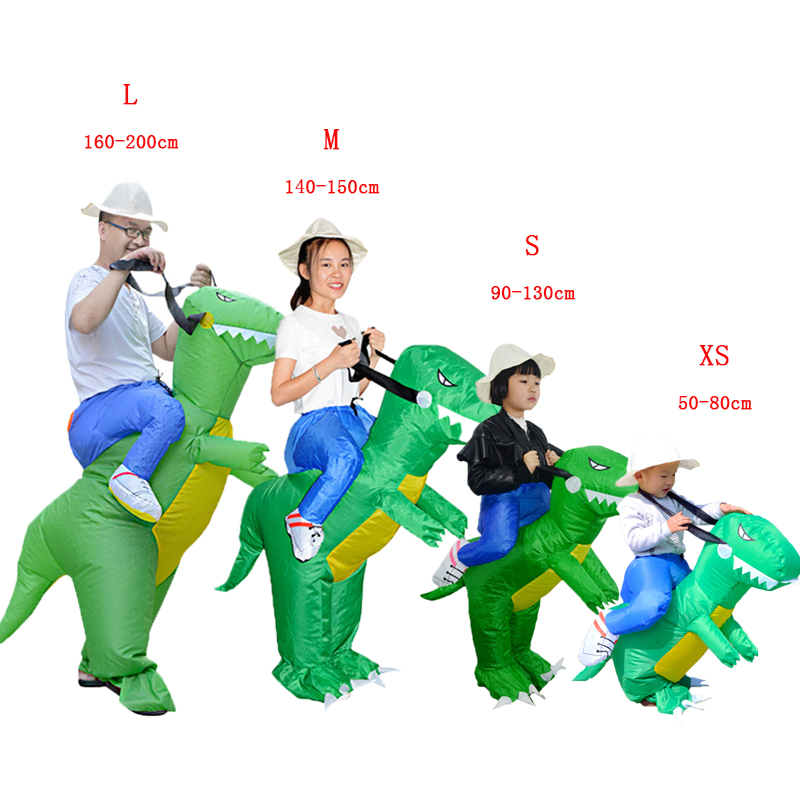Halloween Adult Kids Fancy Dress Dinosaur Inflatable Costume Party Carnaval Amazing Fantasy Men Women Cosplay Birthday Gift