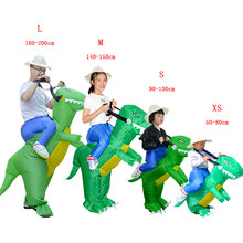 Halloween Adult Kids Fancy Dress Dinosaur Inflatable Costume Party Carnaval Amazing Fantasy Men Women Cosplay Birthday Gift(China)