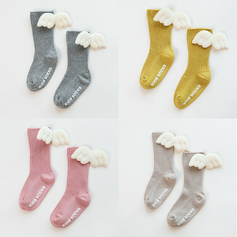 Kids Children Toddler Winter Cotton Knee High Socks Warm Solid Long Stockings TI
