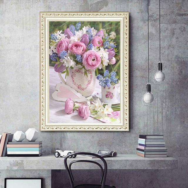 Gypsophila Kit de peinture 5D bricolage   Peinture Diamant, broderie plein diamant, broderie point de croix, décor de pièce, cadeau 5