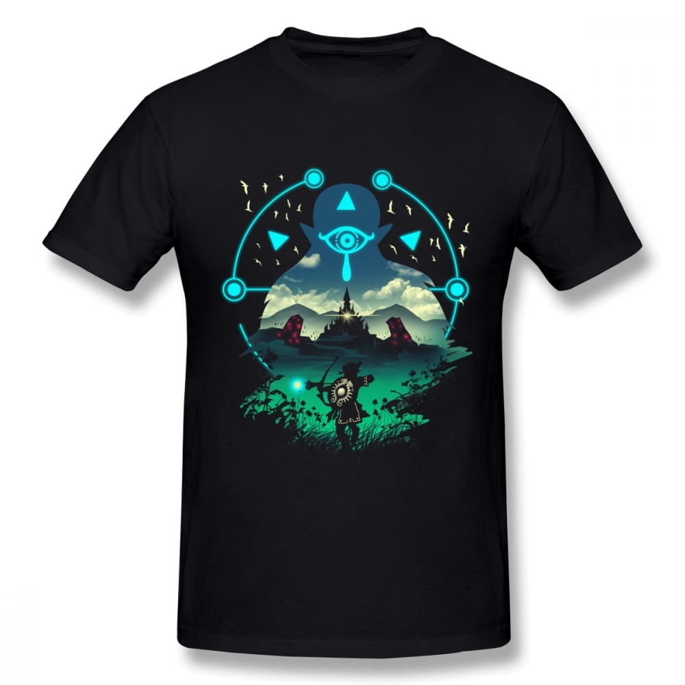 Round Neck Cheap The Legend Of Zelda T Shirt Link T-shirt For Men Short Sleeve Plus Size Homme T-shirt