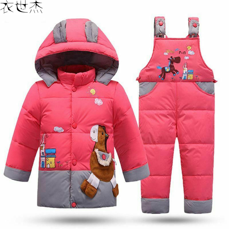 Зимний детский зимний костюм для мальчика, комплект одежды, Детский пуховик, теплый комбинезон для девочки