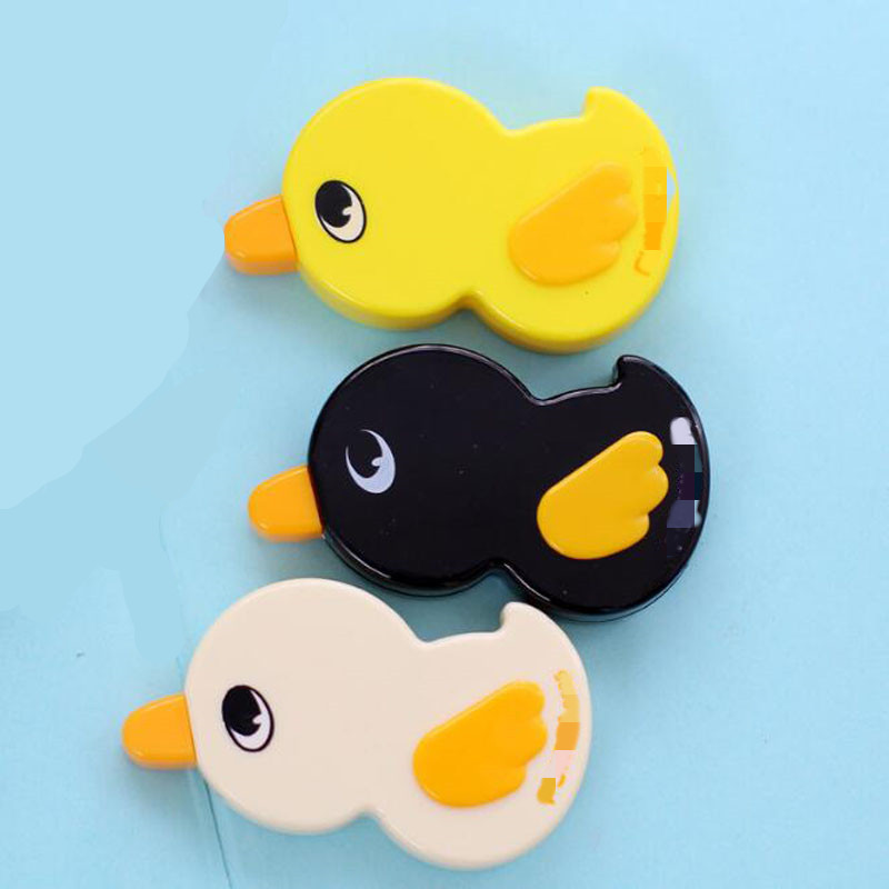 3Pcs 6M Cute Duck Correction Tapes Plastic Material Escolar Creative Cartoon Kawaii Stationery Office School Supplies Papelaria