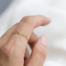 14K Gold Filled Chain Rings Minimalism Knuckle Ring Gold Jewelry Anillos Mujer Bague Femme Boho Aneis Ring For Women