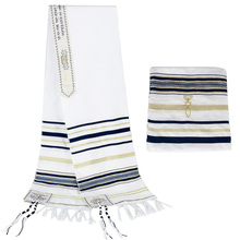 MessianicชาวยิวTallit Israel Prayer Shawlผ้าพันคอTalisกระเป๋าสำหรับผู้ชายผู้หญิง 180*50 ซม.