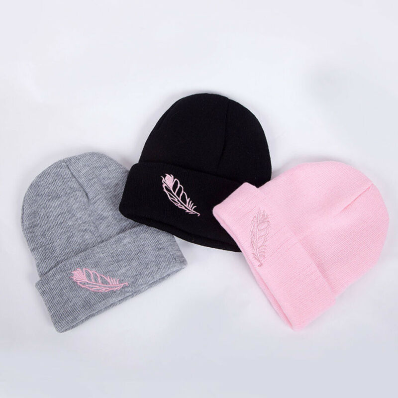 Unisex Women Mens Knitted Winter Warm Oversized Ski Slouch Hat Cap Baggy Beanies Fashion Solid Color Elastic Breathable Hats