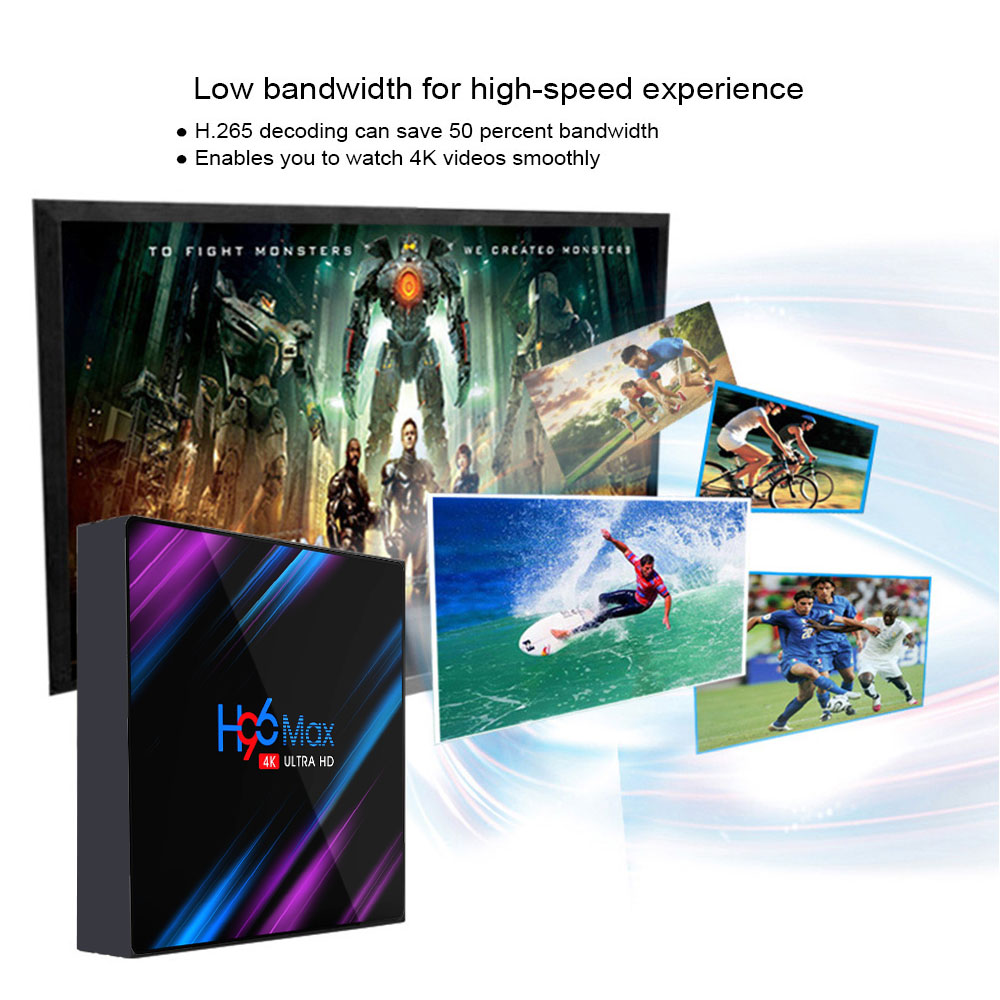 4 2 Android Tv box 9.0 H96 MAX Rockchip 2GB 4G 16GB 32GB 64GB Android box Bluethooth 2.4/5.0G WiFi 4K 3D Google Play Smart Tv box (4)
