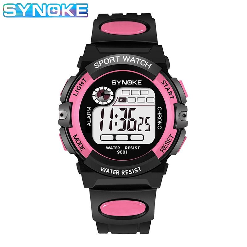 SYNOKE Children's Sports Watch Light Digital Watch For Boy Girl Kids Multi-Function Watch Montre Enfant Garcon