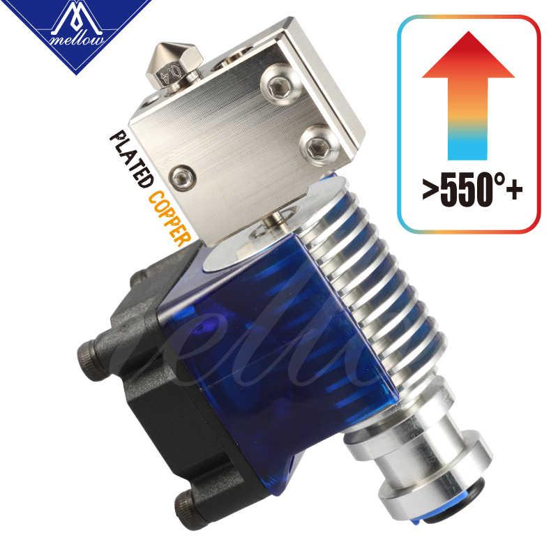 Lembut Top NF-V6 PT100 Gunung Berapi Tembaga Berlapis Panas Blok untuk E3d Gunung Berapi Hotend 3D Printer untuk BMG Extruder Titan Air Hangat blok